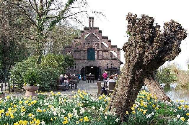 Ansicht Café zum Tulpenfeld im Rittergut Birkhof