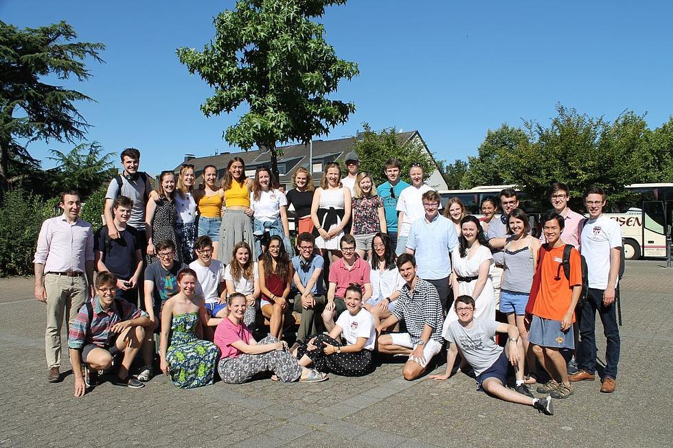 Trinity Choir vor seiner Abreise in Korschenbroich