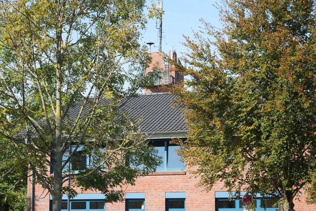 Detailansicht des Feuerwehrgebäudes Korschenbroich