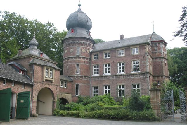 Blick in den Innenhof von Haus Glehn
