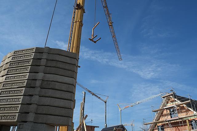 Baustelle an der Niers-Aue