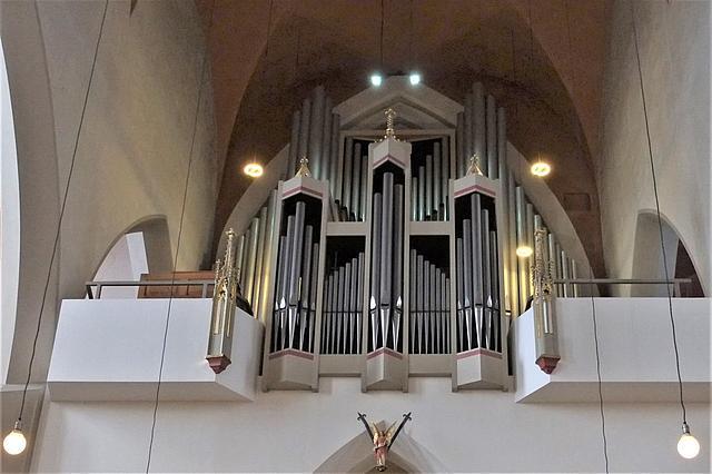 Innenansicht Andreaskirche Detailansicht Orgel