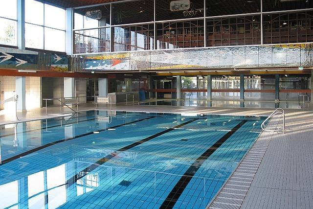 Innenbereich vom Hallenbad Korschenbroich