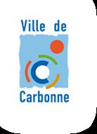 Logo der Stadt Carbonne: Schriftzug Ville de Carbonne